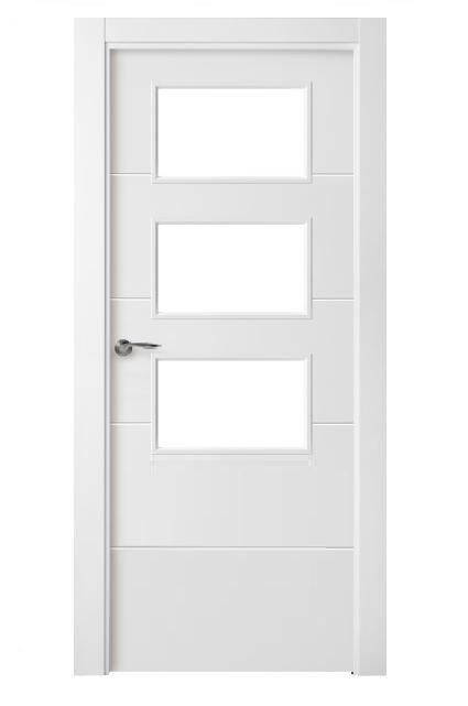Puertas interiores garibai aroztegia s l for Puertas blancas con vidrio